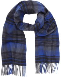 Mulberry Blue Check Scarf - Lyst