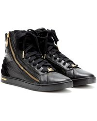 Michael by Michael Kors Hightop Leather Sneakers - Lyst