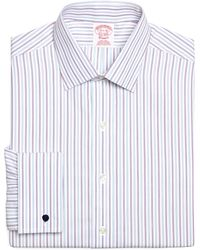 Brooks Brothers Noniron Traditional Fit Tonal Alternating Stripe French Cuff Dress Shirt - Lyst