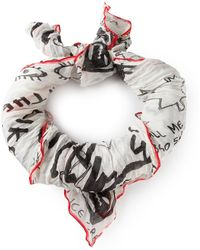DSquared² Printed Scarf - Lyst