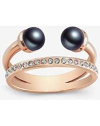 Vita Fede - Double Black Pearl Banded Ring - Lyst