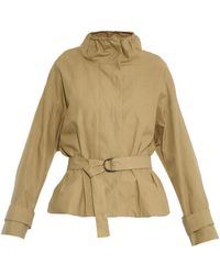 Isabel Marant Oury Belted Cotton-Blend Jacket - Lyst