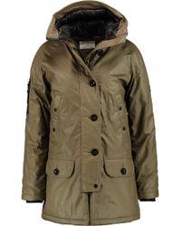 W118 by Walter Baker - Kelly Coated Cotton Hooded Coat - Lyst