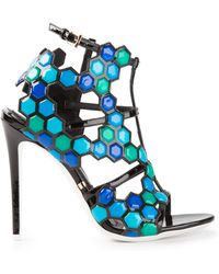 Gianmarco Lorenzi Beaded Sandals - Lyst
