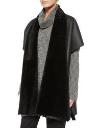 Eskandar - Shawl-collar Shearling Fur Tabard - Lyst