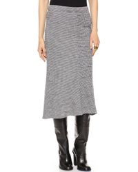 Tibi Chadwick Pleated Knit Skirt Ivory Multi - Lyst