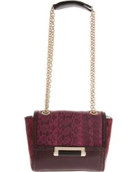 Diane Von Furstenberg Mini Block Colour Snake and Leather - Lyst