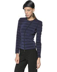 Giorgio Armani Viscose Knit Jacket - Lyst