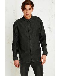 Cheap Monday Left Eye Contrast Shirt in Black - Lyst