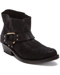 Anine Bing Black Biker Boot - Lyst