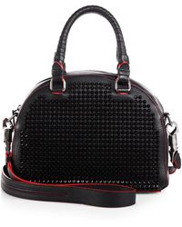 Christian Louboutin Panettone Studded Shoulder Bag - Lyst