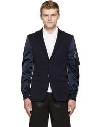 Givenchy Navy Bomber Sleeve Blazer - Lyst