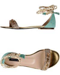 Patrizia Pepe Sandals green - Lyst