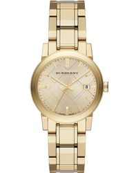 Burberry City Goldtone Stainless Steel Bracelet Watch - Lyst