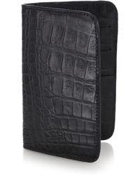 Santiago Gonzalez Crocodile Small Wallet black - Lyst