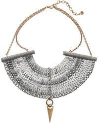 Sam Edelman Girls Club Multi Chain Bib Necklace - Lyst