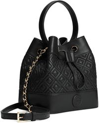 c2e44cd0e60 Tory Burch - Marion Quilted Mini Bucket Bag - Lyst