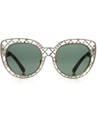 Tory Burch Lattice Sunglasses - Lyst