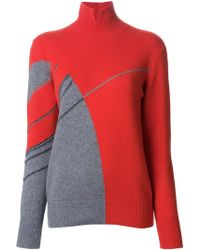 Akris Geometric Pattern Turtle Neck Sweater - Lyst