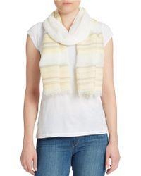 DKNY - Striped Cotton Scarf - Lyst
