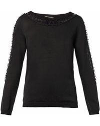 Nina Ricci Fineknit Silk Sweater - Lyst