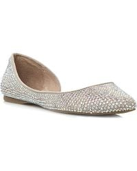 Steve Madden Beige Elizza Flats - Lyst