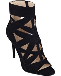Nine West Delfina Caged Booties - Lyst