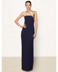 Ralph Lauren Collection Silk Theresa One-shoulder Gown - Lyst