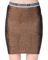 American Retro Mini Skirt - Talask - Lyst