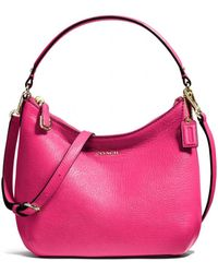 Coach Madison Top Handle Pouch in Leather - Lyst