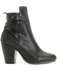 Rag & Bone Kinsey Textured-Leather Boots - Lyst