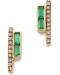 Tai - Row Earrings - Green/gold - Lyst