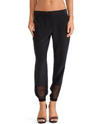 Thakoon Addition Sheer Inset Trouser - Lyst