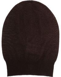 Rick Owens Medium Fine-Wool Beanie brown - Lyst