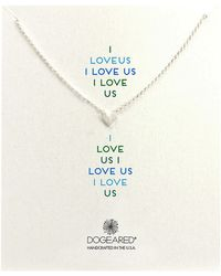 Dogeared I Love Us Heart Whisper Necklace - Lyst