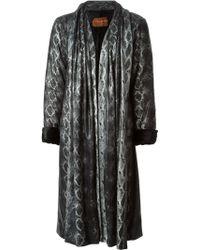 Yves Saint Laurent Vintage Snakeskin Print Coat - Lyst