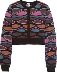 M Missoni Mid Weight Knitted Cardigan - Lyst