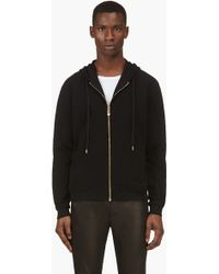 Versus  Black Resin Stud Zip Up Hoodie - Lyst