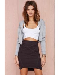 Nasty Gal Thunder Road Knit Skirt - Lyst