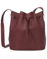 Sophie Hulme - Gibson Burgundy Leather Bucket Bag - Lyst