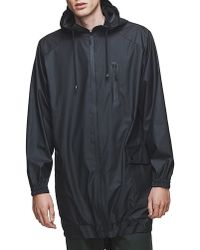 Rains Black Water-Resistant Parka - Lyst