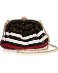 Sonia Rykiel Sequined Leather Clutch - Lyst