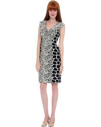 Kay Unger Mixed Animal Print Daytime Dress - Lyst