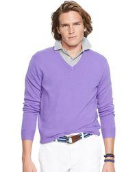 Polo Ralph Lauren Cashmere V-Neck Sweater - Lyst