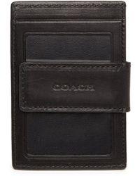 Coach Leather Money Clip Card Case - Lyst