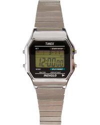 River Island Silver Tone Timex Digital Expander Watch - Lyst