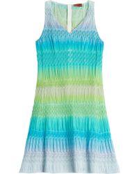 Missoni Stretch Knit Crochet Dress - Lyst
