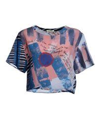 Kelly Shaw - Frida Kahlo Print Silk T-shirt - Lyst