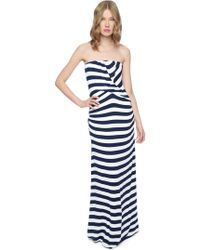 Ella Moss Isla Stripe Maxi Dress - Lyst