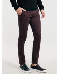 Topman Fudge Stretch Skinny Chinos - Lyst
